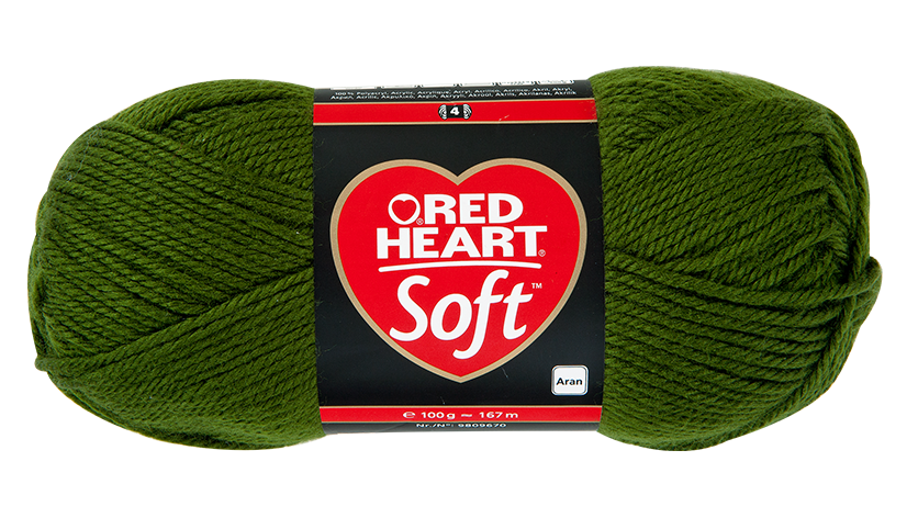 Red Heart Soft kötőfonal - 0011 - mohazöld - 10db