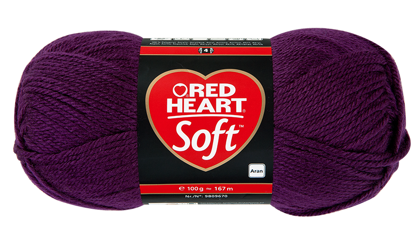 Red Heart Soft kötőfonal - 0005 - szőlő - 10db