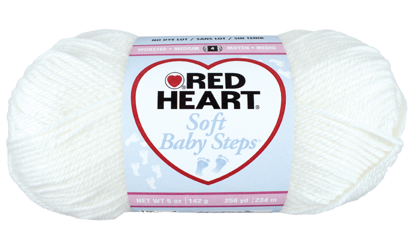 Red Heart Soft Baby Steps - 1 - fehér