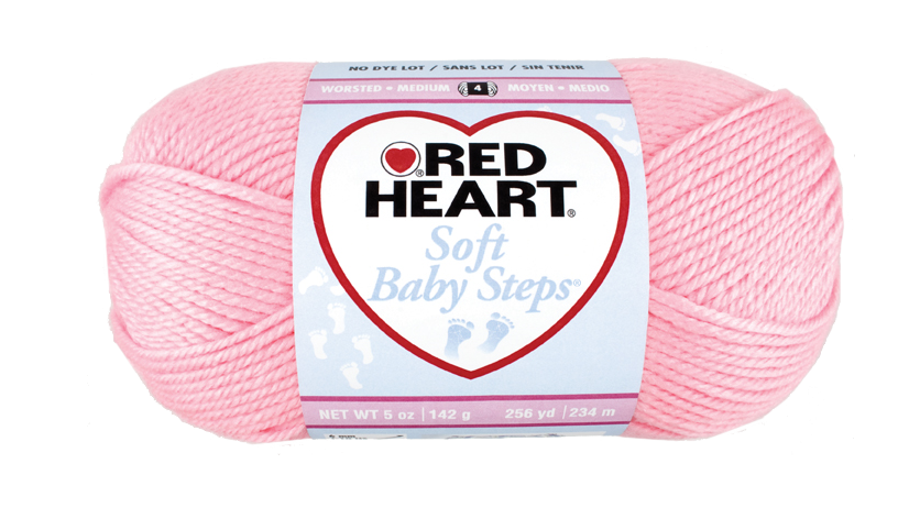 Red Heart Soft Baby Steps - 3 - pink
