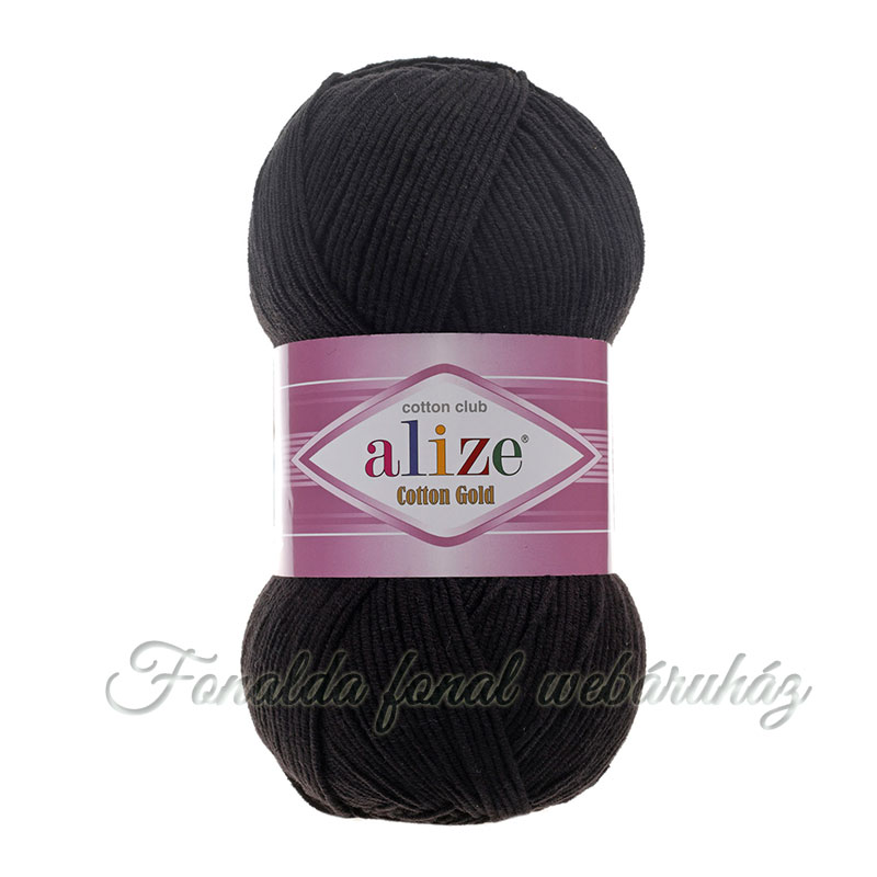 Alize Cotton Gold fonal - 60 - Fekete