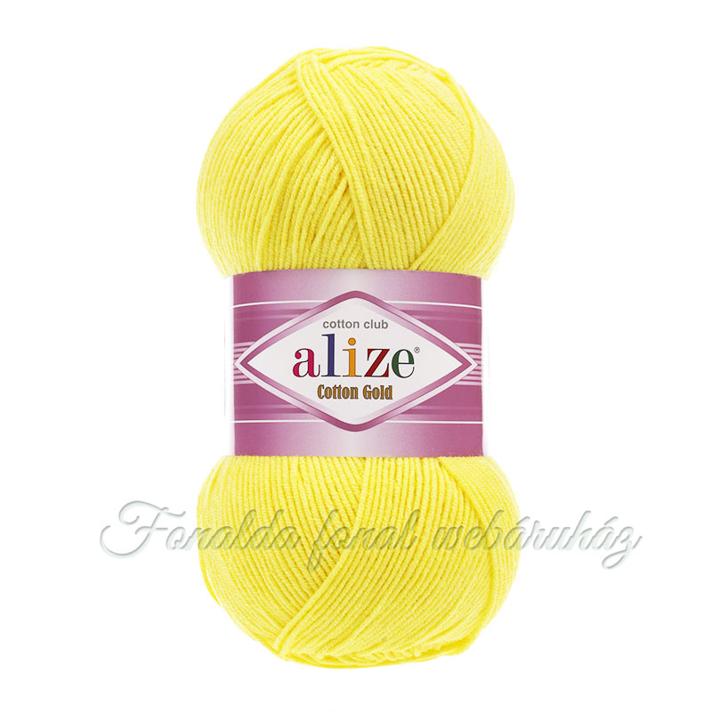 Alize Cotton Gold fonal - 110 - Citromsárga