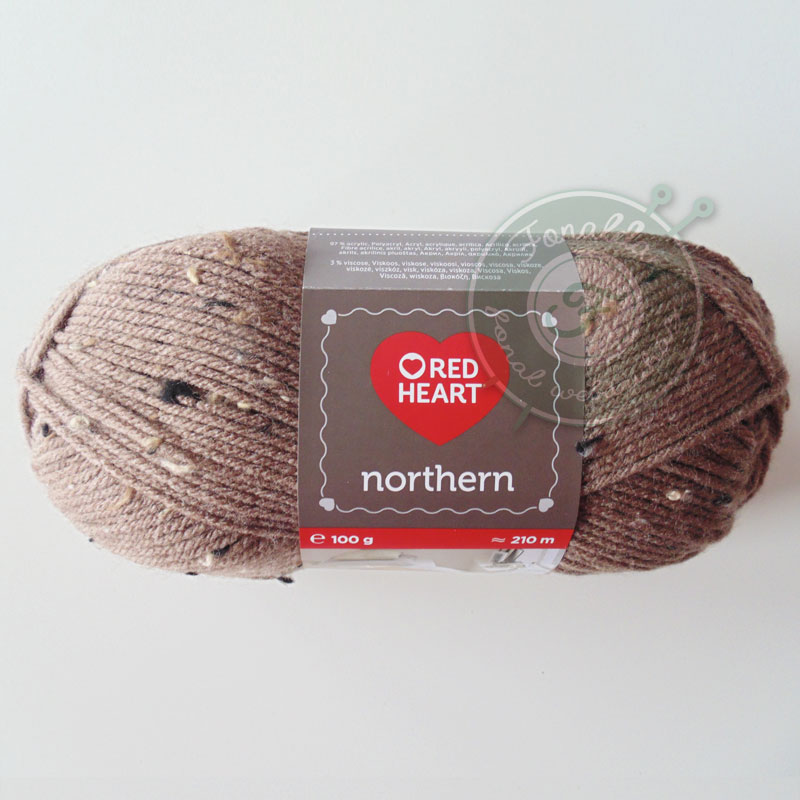 Red Heart Northern - 8374 - Barna tweed