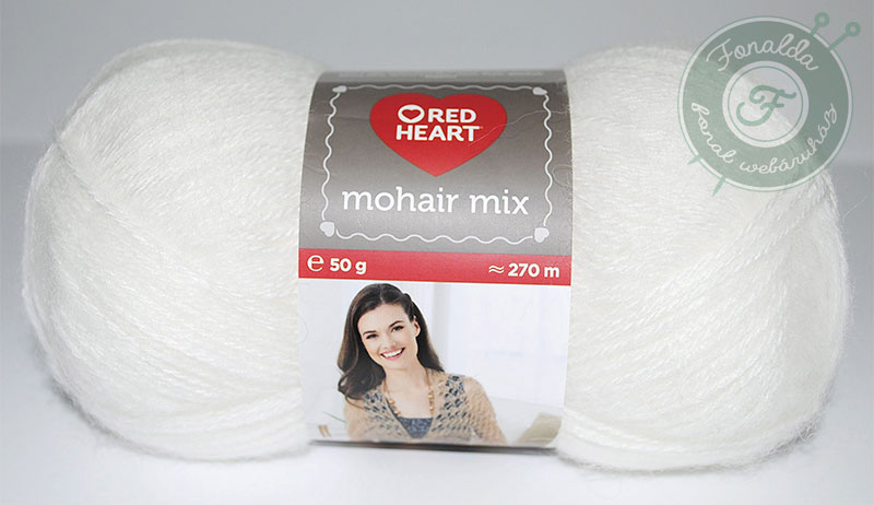 Red Heart Mohair Mix - 0208 - Fehér