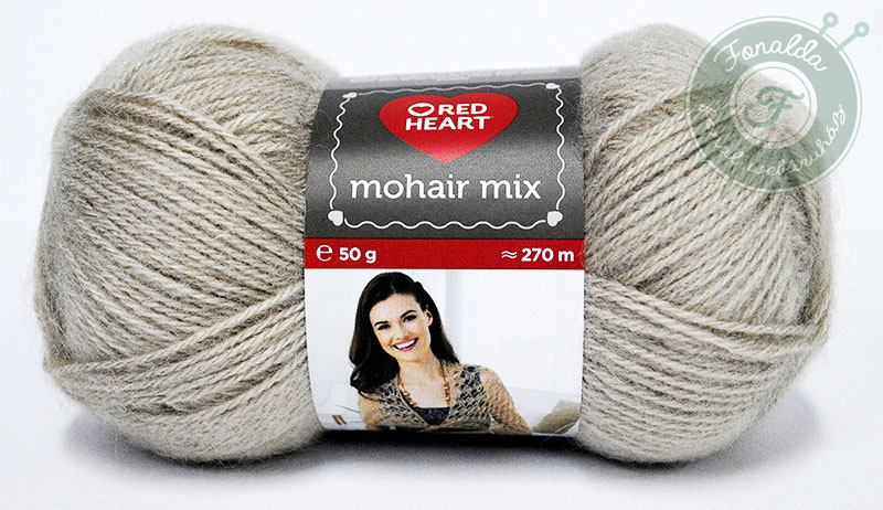 Red Heart Mohair Mix - 0344 - Bézs