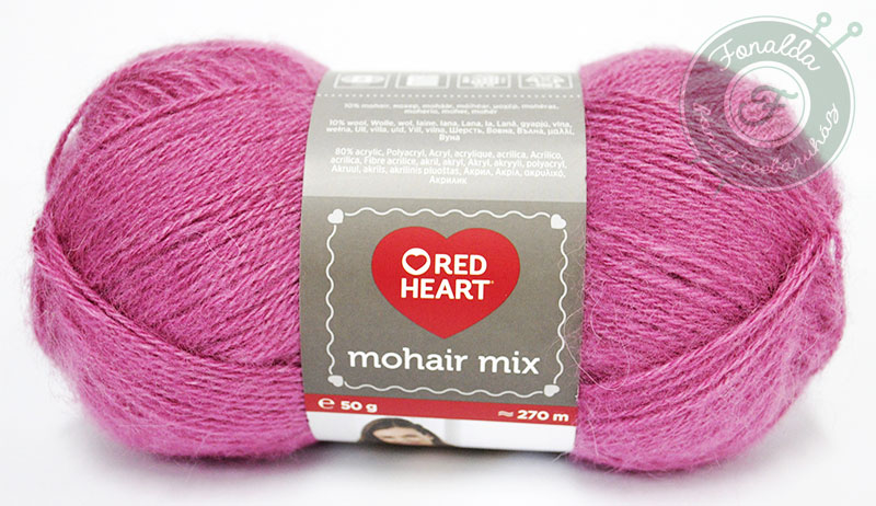 Red Heart Mohair Mix - 6682 - Rózsa