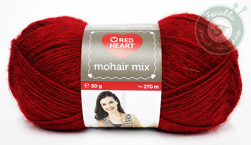 Red Heart Mohair Mix - 1175 - Piros