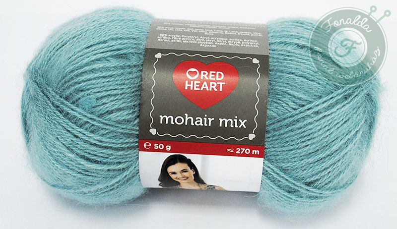 Red Heart Mohair Mix - 0628 - Zöld