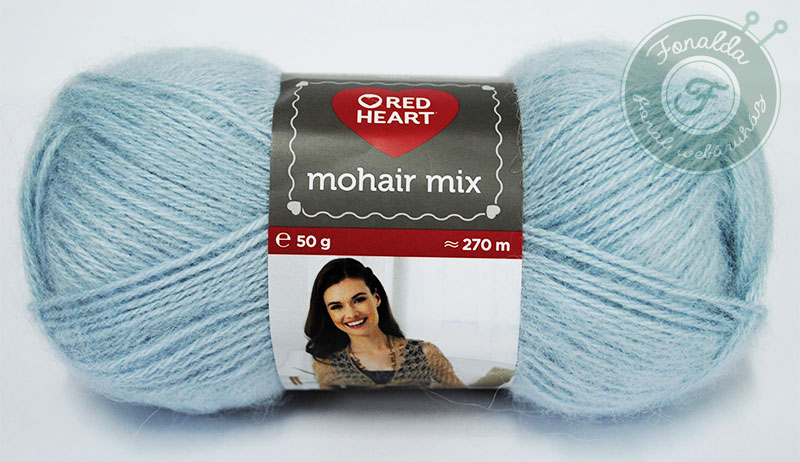 Red Heart Mohair Mix - 0471 - Menta