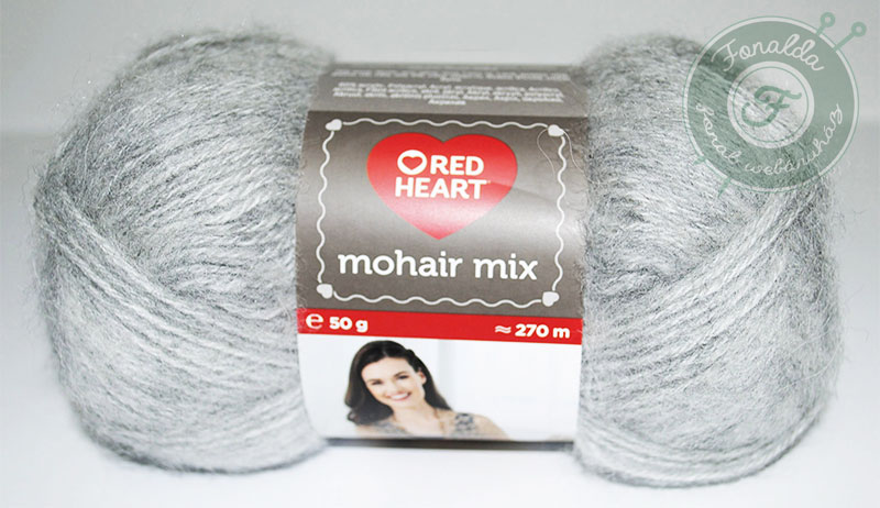 Red Heart Mohair Mix - 0195 - Szürke