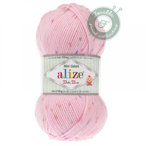 Alize Baby Best mini colors babarózsaszín