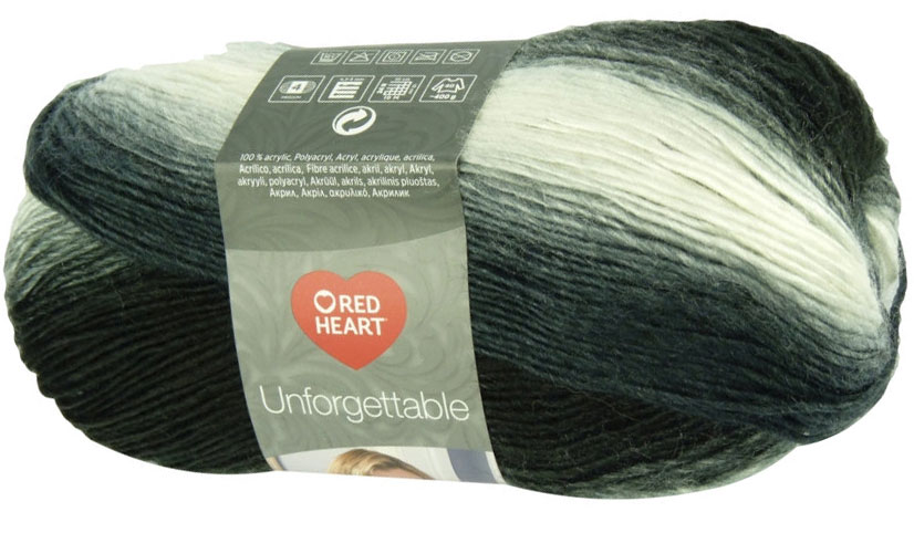 Red Heart Unforgettable 3970 - grafit