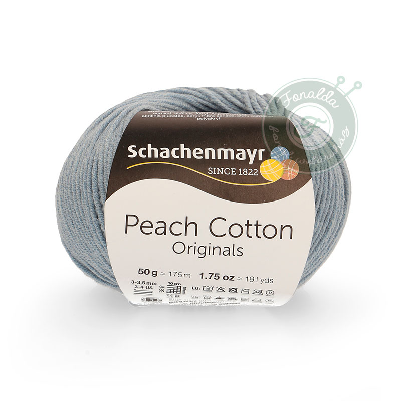 Schachenmayr Peach Cotton fonal - 150 - Light denim
