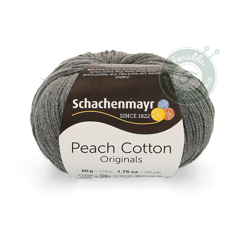 Schachenmayr Peach Cotton fonal - 198 - Antracit