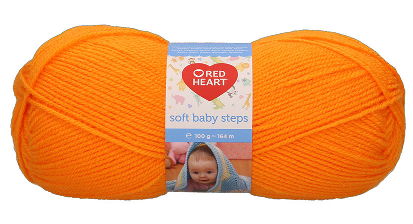 Red Heart Soft Baby Steps - 31 - Narancs