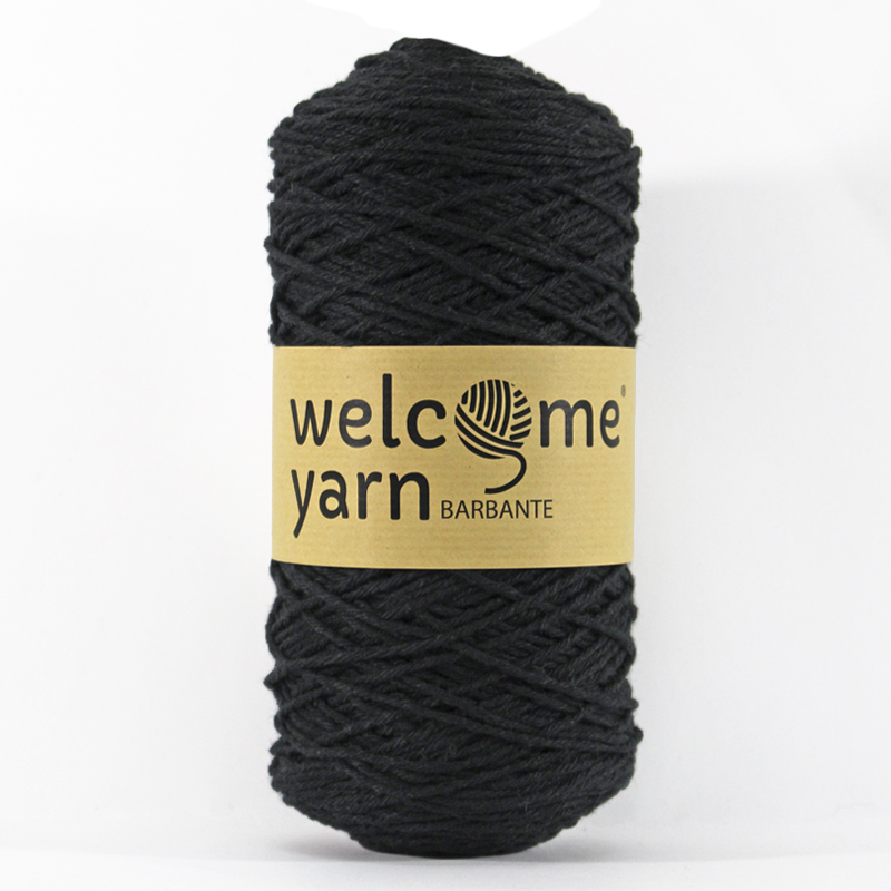 Welcome Yarn Spárgafonal - BB1001 - Fekete