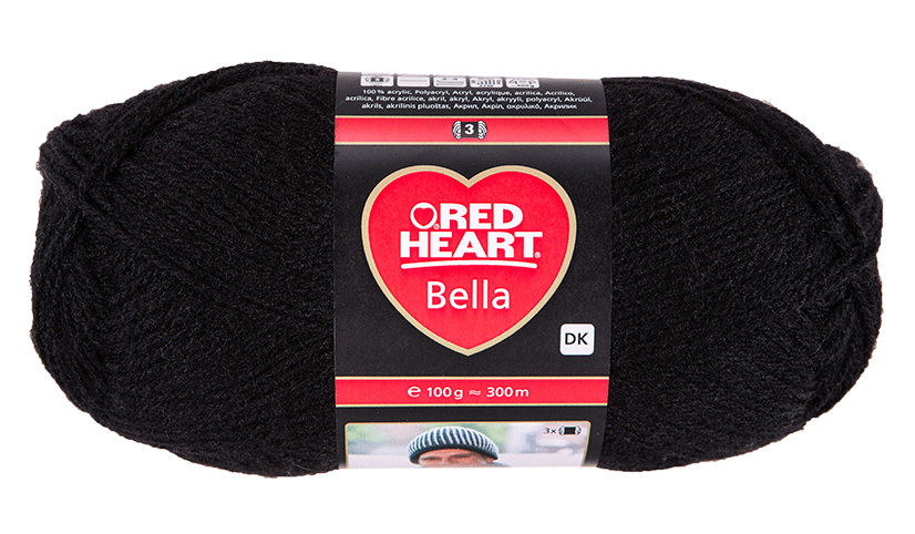Red Heart Bella fonal Fekete
